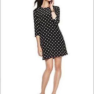 C.Wonder 100% Silk Lined Polka Dot Shift Dress